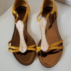 Kelsi Dagger Yellow Strappy Sandals 6